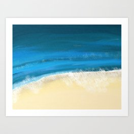 Abstract Beach and Waves Art Print