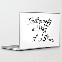 calligraphy Laptop & iPad Skins featuring Calligraphy by muffa
