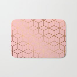 Pink and Gold Geometry 011 Bath Mat