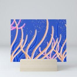 Coral Reef - seaweed in peach Mini Art Print