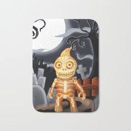 Skelton the Chubby skeleton Bath Mat