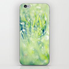 SPARKLING GRASS iPhone & iPod Skin
