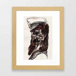 Starry Sailor Framed Art Print