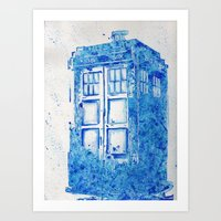 tardis Art Prints featuring TARDIS by Redeemed Ink by - Kagan Masters