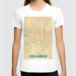 Columbus Map Retro T-shirt