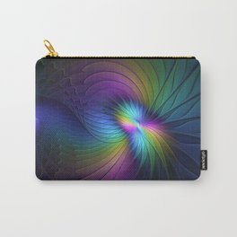 Colorful and Luminous, Abstract Fractals Art Carry-All Pouch