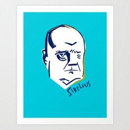 Jean Sibelius (3) Art Print