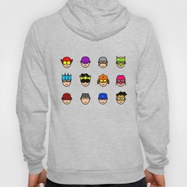 Teen Superhero Faces Hoody