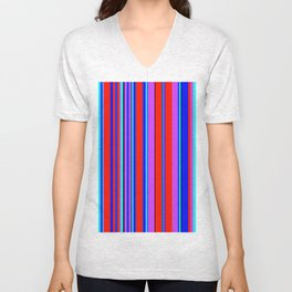Stripes-006 Unisex V-Neck