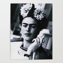 Frida Kahlo Smoke Poster