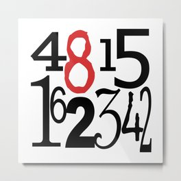The Numbers in White Metal Print