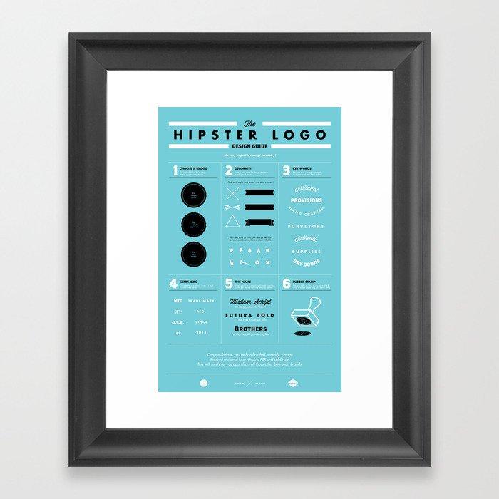 The Hipster Logo Design Guide Framed Art Print