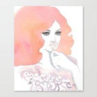fashion illustration Canvas Prints featuring fashion illustration by Yulia Puchko
