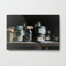 Vintage Pantry & Spices Metal Print