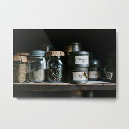 Vintage Pantry & Spices Metal Print