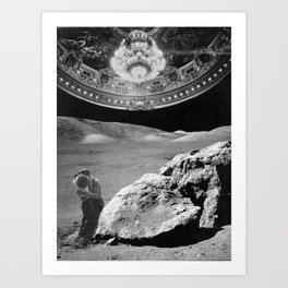 Lovers on the Moon part 2 Art Print