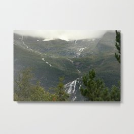 A nice view in the mountains of Norway  | nature photo | fine art photo print | travel photography Metal Print