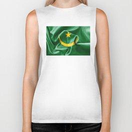Mauritania Flag Biker Tank