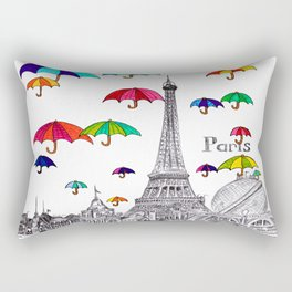 Travel with Umbrella Rectangular Pillow