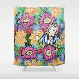 White Tara Shower Curtain