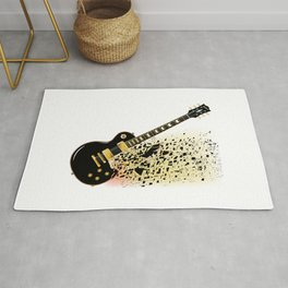 Shattering Blues Guitar Rug