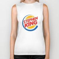 stephen king Biker Tanks featuring Stephen King by Alejo Malia