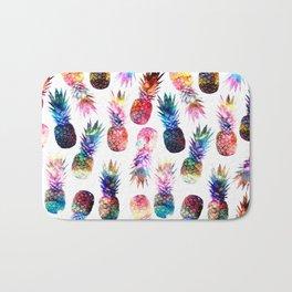 watercolor and nebula pineapples illustration pattern Bath Mat