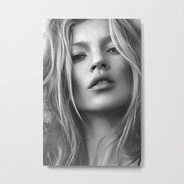 Kate Moss Poster, Super Hot Super Model Metal Print