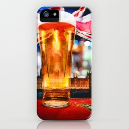 English Beer In A London Pub iPhone Case
