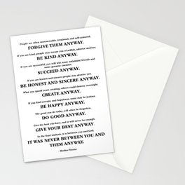 Do It anyway - Teresa Stationery Cards