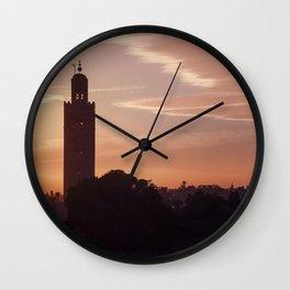 Marrakech skyline Wall Clock