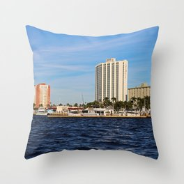 Fort Myers Yacht Basin Throw Pillow