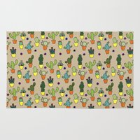 cacti Area & Throw Rugs featuring Cacti by Alisse Ferrari