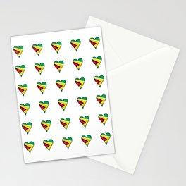 Flag of Guyana 2  -Guyanese,Guyanes,Georgetown,Linden,Waiwai Stationery Cards