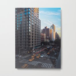 New York City from Rooftop Metal Print