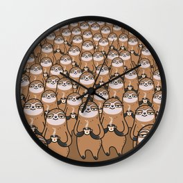 sloth-tastic! Wall Clock
