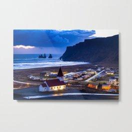 Vik Iceland Metal Print