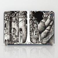gondor iPad Cases featuring The dark plague by Anca Chelaru