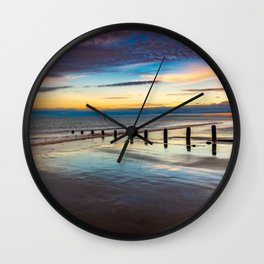 Beach Sunset Wales Wall Clock