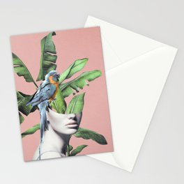 Tropical Girl  2 Stationery Cards