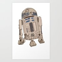 r2d2 Art Prints featuring R2D2 by colleencunha