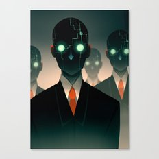 Microchip mind control Canvas Print