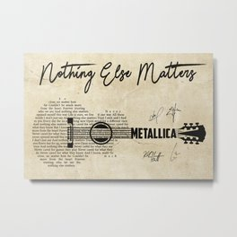 Metal-lica Lyric, Nothing Else Matters Music , Music Poster, Song Lyric Metal Print