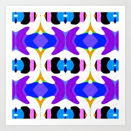 Abstract Daze - Painting Within The Lines Collection Art Print