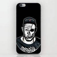 tyler the creator iPhone & iPod Skins featuring Golf Wang - Tyler The Creator Skull Ink Print by zombieCraig
