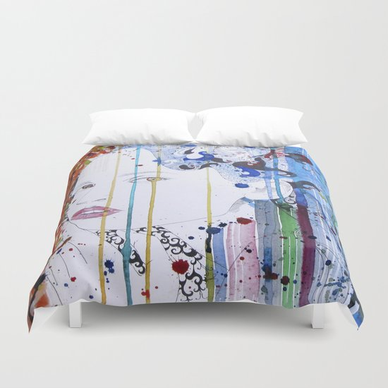 in the summer garden Duvet Cover