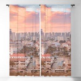 Witnessing sunset at Bugis, Singapore Blackout Curtain