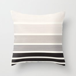 Grey Minimalist Watercolor Mid Century Staggered Stripes Rothko Color Block Geometric Art Throw Pillow