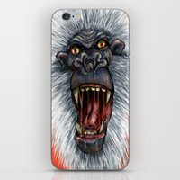 yeti iPhone & iPod Skins featuring yeti by mileshustonart