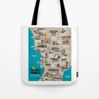 philippines Tote Bags featuring Metro Manila, Philippines by Reg Silva / Wedgienet.net